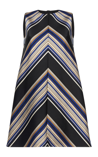 Medium martin grant stripe bias stripe trapeze dress