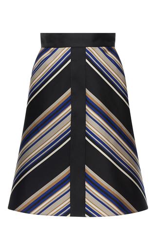Medium martin grant stripe a line front trim stripe skirt