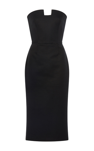 Medium martin grant black u shape bustier little black dress