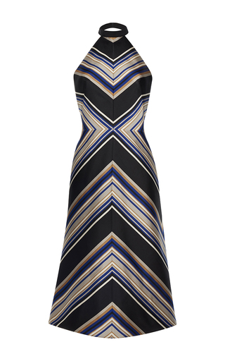 Medium martin grant stripe halter bias stripe dress