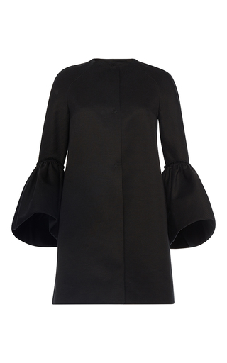 Medium martin grant black ruffle cuff coat