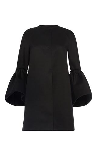 Medium martin grant black ruffle cuff coat