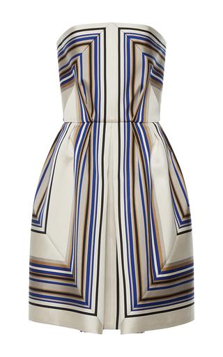 Medium martin grant stripe strapless geometric dress