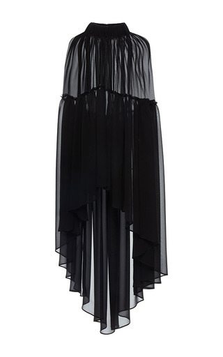 Medium martin grant black transparents ruffle cape