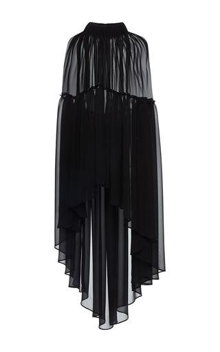 Medium martin grant black transparents ruffle cape
