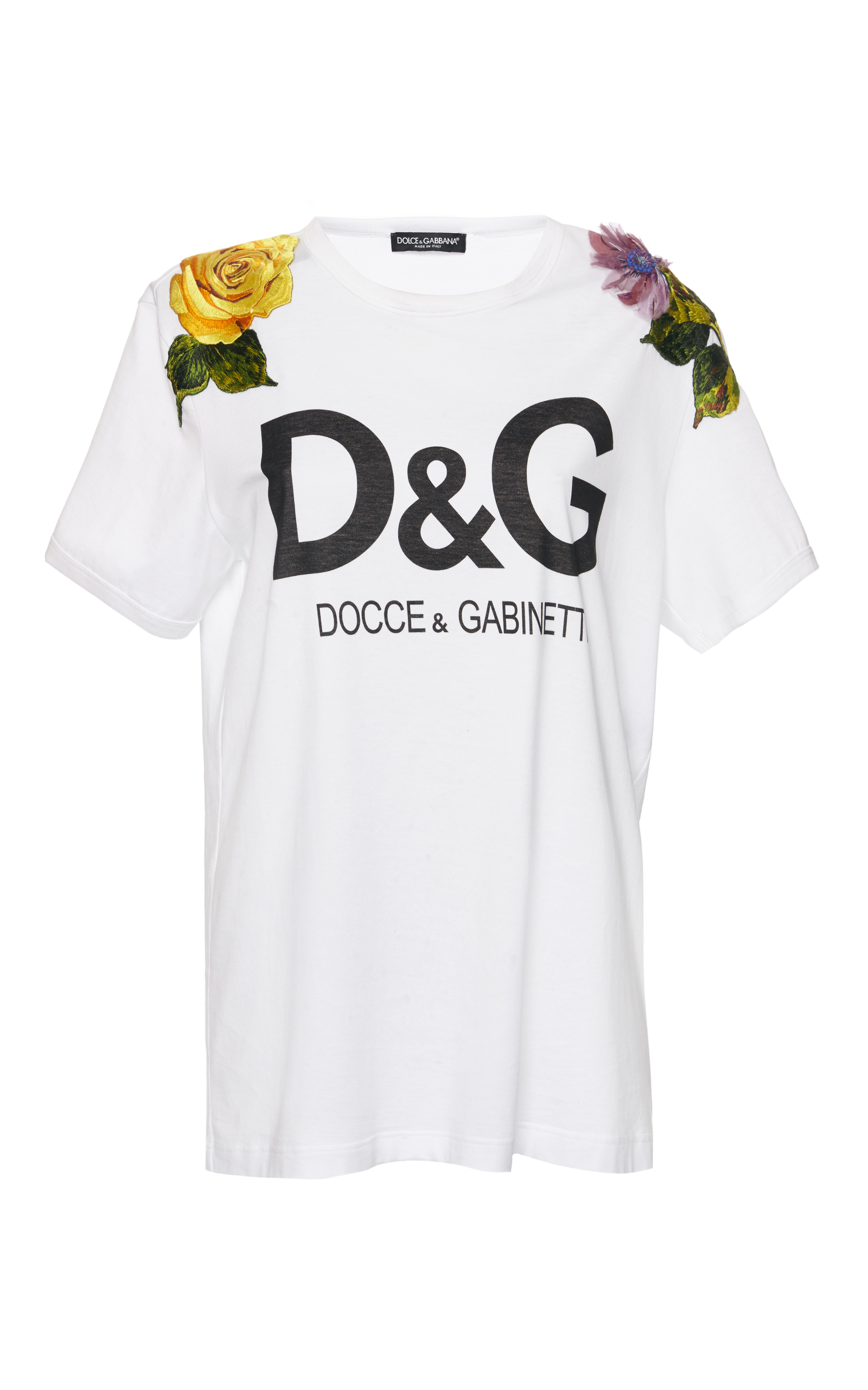 d g logo t shirt by dolce gabbana moda operandi. Black Bedroom Furniture Sets. Home Design Ideas