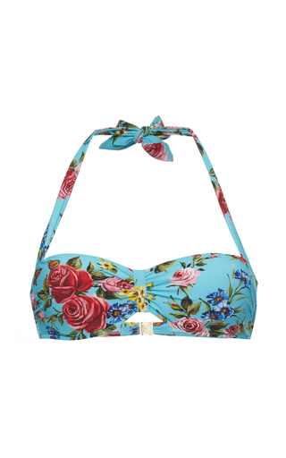 Medium dolce gabbana floral sweetheart bikini top