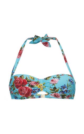 Medium dolce gabbana floral sweetheart bikini top