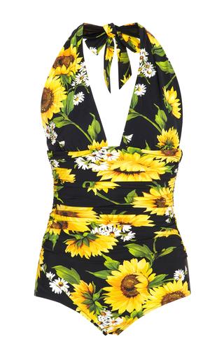 Medium dolce gabbana print floral print one piece swimsuit