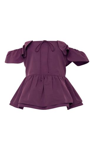 Medium rochas purple off the shoulder peplum top