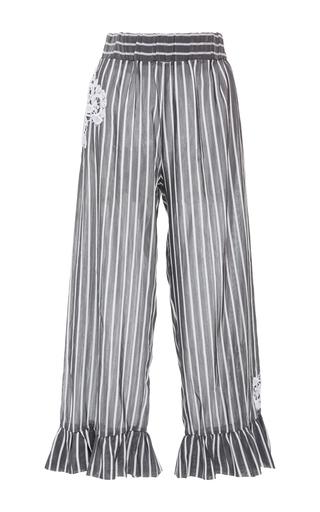 Medium lila eugenie stripe lace appliqued striped pants