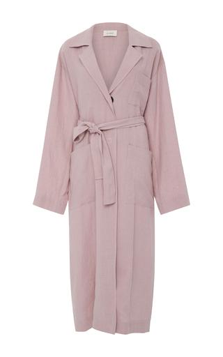 Medium isa arfen light pink long safari trench coat