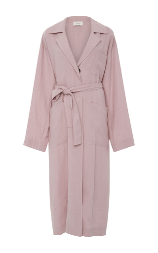 Medium isa arfen light pink long safari trench coat