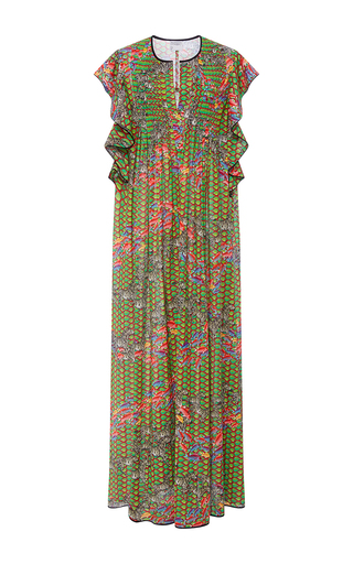 Medium cynthia rowley print zebra and fish maxi dress