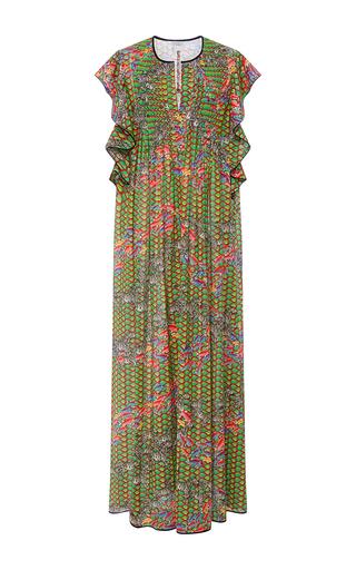 Medium cynthia rowley print zebra and fish maxi dress