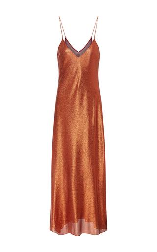 Medium cynthia rowley orange lame slip dress