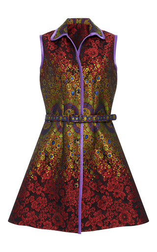 Medium cynthia rowley multi brocade belted dress