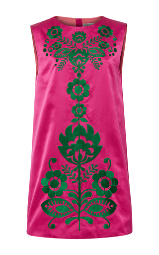 Medium cynthia rowley pink duchess satin a line shift dress
