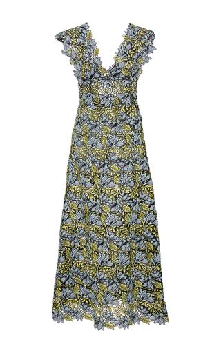 Medium cynthia rowley multi lace midi v neck dress