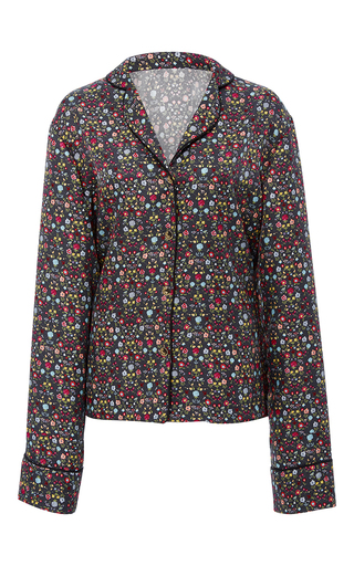 Medium cynthia rowley floral printed silk night shirt