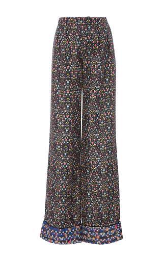 Medium cynthia rowley floral silk printed trousers
