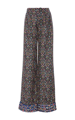 Medium cynthia rowley floral silk printed trousers