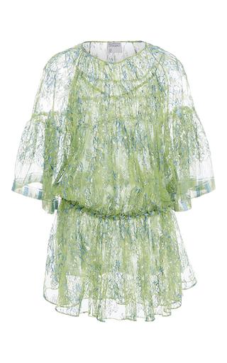 Medium cynthia rowley green drop waist lace dress