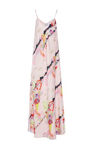 Medium cynthia rowley pink magic clouds maxi slip dress