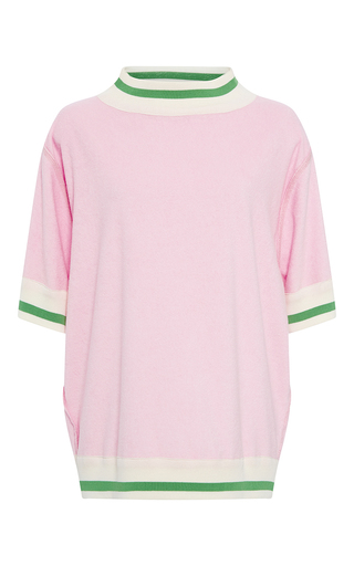 Medium cynthia rowley pink terry short sleeve top