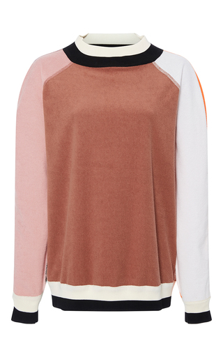 Medium cynthia rowley multi terry colorblock sweatshirt