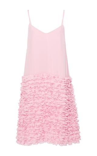 Medium cynthia rowley pink ruffle slip dress