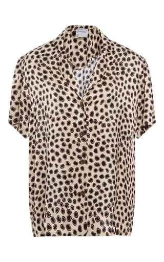 Medium cynthia rowley print charmeuse short sleeve blouse