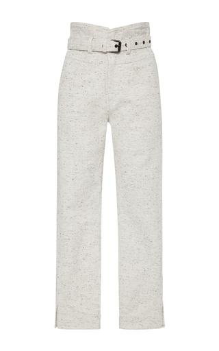 Medium isabel marant off white high rise cotton pants