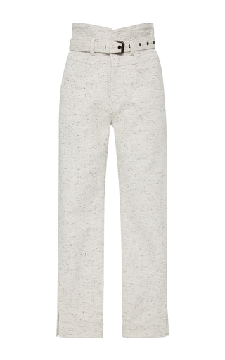 Medium isabel marant off white high rise cotton pants