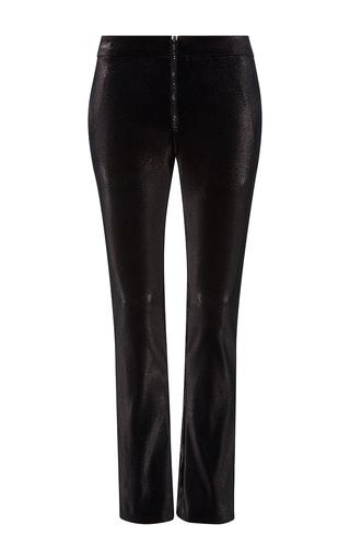 Medium cynthia rowley black lame stretch skinny pants