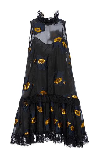 Medium cynthia rowley black metallic floral night dress