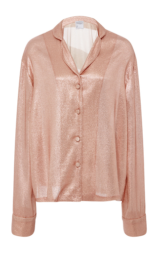 Medium cynthia rowley pink lame night shirt