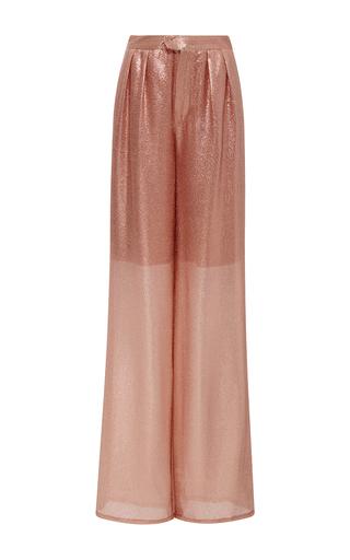 Medium cynthia rowley pink lame night trousers