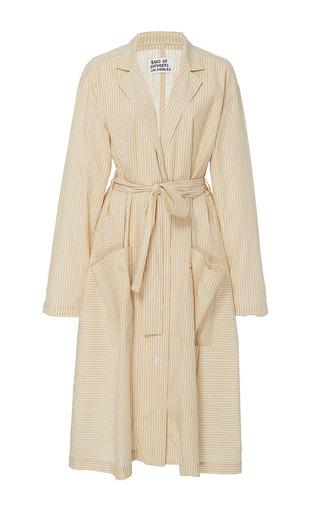 Medium band of outsiders tan kaspar coat dress