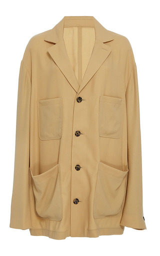 Medium band of outsiders tan ahorna workers jacket