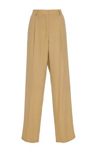 Medium band of outsiders tan parson tailored loose fit pants