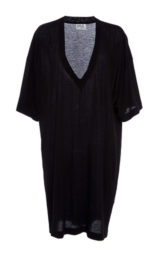 Medium band of outsiders black triumph v neck jersey dress