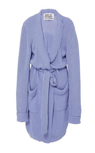 Medium band of outsiders blue kingston knit peignoir