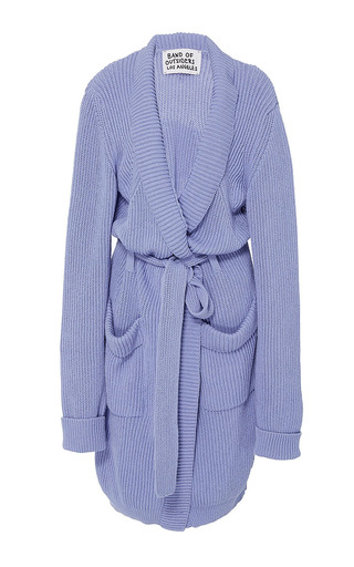 Medium band of outsiders blue kingston knit peignoir