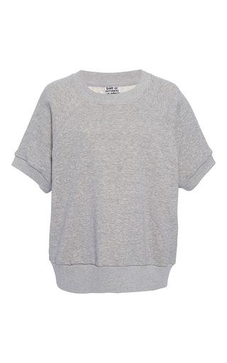 Medium band of outsiders light grey vance varsity short sleeve top