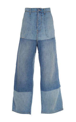 Medium band of outsiders blue duisburg woodstock pants