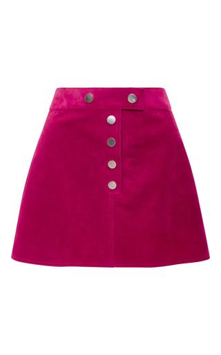 Medium courreges pink fushia suede mini skirt
