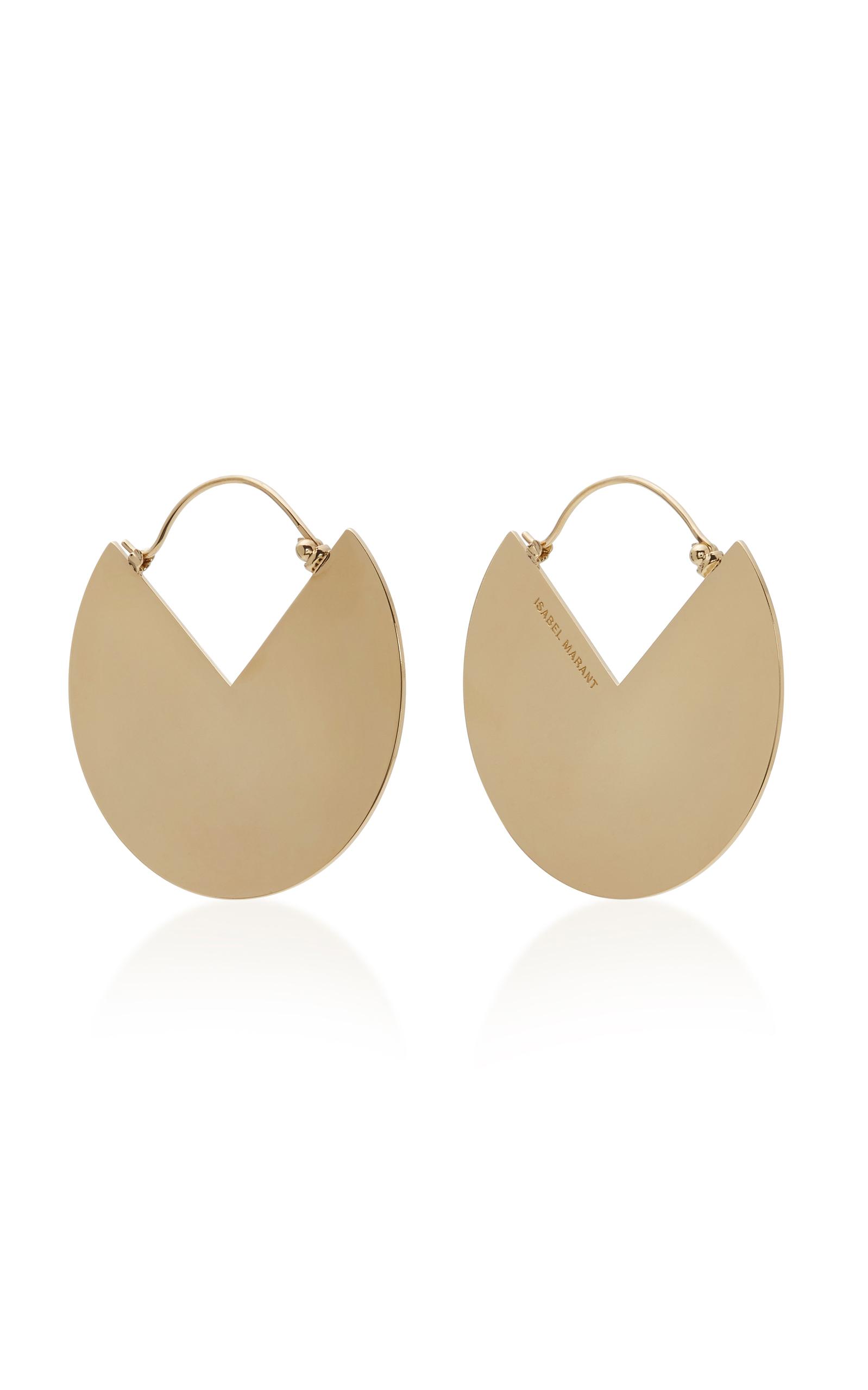 2871355951 Pacman Gold-Tone Brass Earrings by Isabel Marant | Moda Operandi