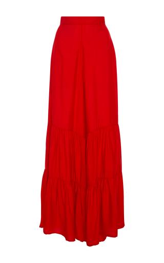 Medium adriana degreas red ruffled wide leg pants