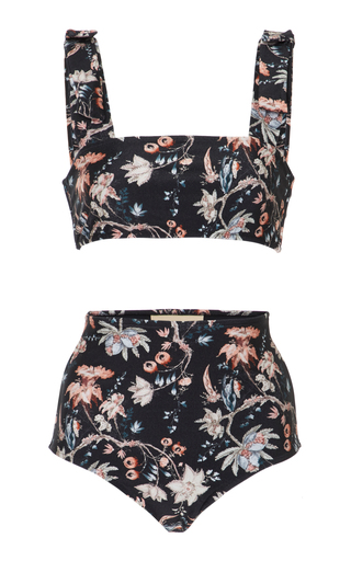 Medium adriana degreas floral off the shoulder printed bikini set